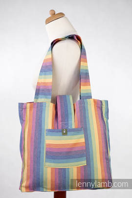 Shoulder bag made of wrap fabric (60% cotton, 40% bamboo) - SUNRISE RAINBOW - standard size 37cmx37cm