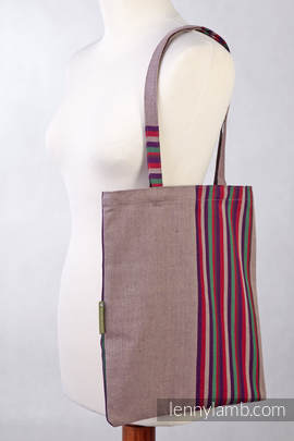 Shopping bag made of wrap fabric (100% cotton) - HEATHER NIGHTS