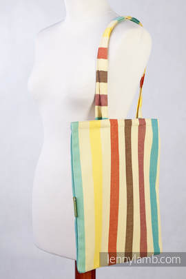 Shopping bag made of wrap fabric (100% cotton) - SUNNY SMILE