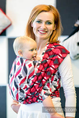 Baby Wrap, Jacquard Weave (100% cotton) - QUEEN OF HEARTS - size S (grade B)