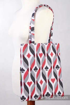 Shopping bag made of wrap fabric (100% cotton) - QUEEN OF HEARTS - standard size 33cmx39cm