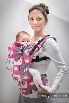 Ergonomic Carrier, Baby Size, jacquard weave 100% cotton - wrap conversion from HEARTBEAT - ABIGAIL, Second Generation