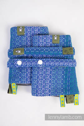 Drool Pads & Reach Straps Set, (100% cotton) - LITTLE LOVE - OCEAN (grade B)