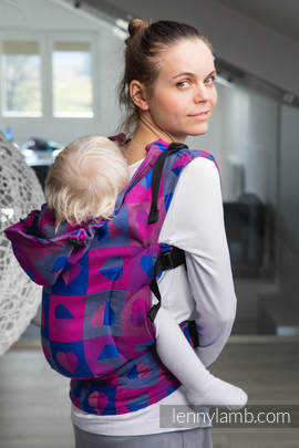 Ergonomic Carrier, Toddler Size, jacquard weave 100% cotton - wrap conversion from HEARTBEAT - CHLOE, Second Generation