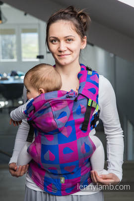 Ergonomic Carrier, Baby Size, jacquard weave 100% cotton - wrap conversion from HEARTBEAT - CHLOE, Second Generation