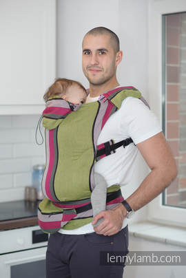 Ergonomic Carrier, Toddler Size, broken-twill weave 100% cotton - wrap conversion from LIME & KHAKI, Second Generation
