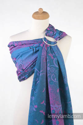 Ringsling, Jacquard Weave (100% cotton) - DREAM TREE BLUE & PINK
