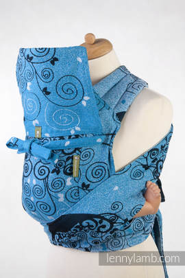 Mei Tai carrier Toddler with hood/ jacquard twill / 100% cotton /  BLUE PRINCESSA