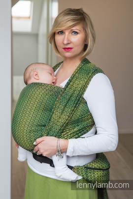 Baby Wrap, Jacquard Weave (100% cotton) - LITTLE LOVE - LEMON TREE - size M