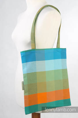 Shopping bag made of wrap fabric (100% cotton) - ORANGE TREE - standard size 33cmx39cm