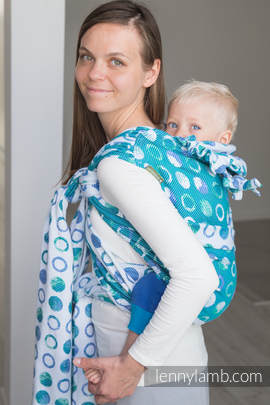 WRAP-TAI carrier Mini with hood/ jacquard twill / 100% cotton / MOTHER EARTH