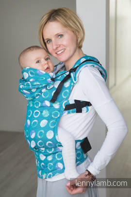 Ergonomic Carrier, Toddler Size, jacquard weave 100% cotton - wrap conversion from MOTHER EARTH - Second Generation
