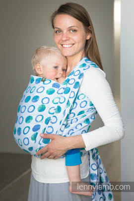 Baby Wrap, Jacquard Weave (100% cotton) - MOTHER EARTH - size S