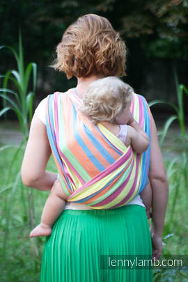 Baby Sling, Broken Twill Weave (bamboo + cotton) - Pinacolada - size S