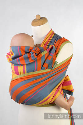 WRAP-TAI carrier Toddler, broken-twill weave - 100% cotton - with hood, ZUMBA ORANGE