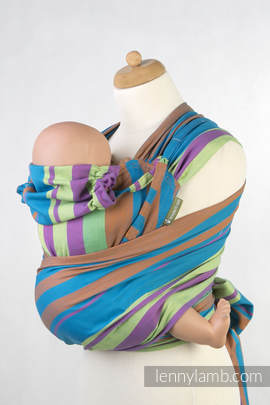 WRAP-TAI carrier Toddler, broken-twill weave - 100% cotton - with hood, ZUMBA BLUE