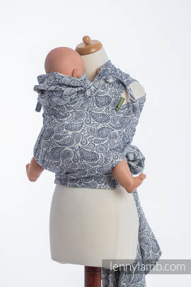 WRAP-TAI carrier Toddler with hood/ jacquard twill / 100% cotton / PAISLEY NAVY BLUE & CREAM