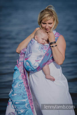 Baby Wrap, Jacquard Weave (100% cotton) - HIGH TIDE - size XS