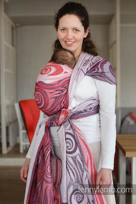 Baby Wrap, Jacquard Weave (100% cotton) - MAROON WAVES - size XL