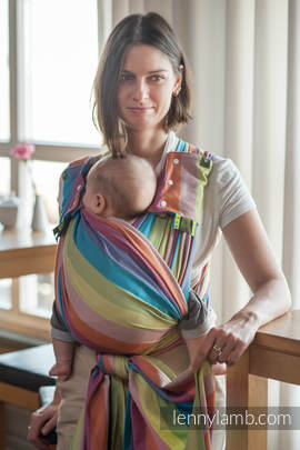 Baby Sling, Broken Twill Weave (100% cotton) - CORAL REEF - size XS