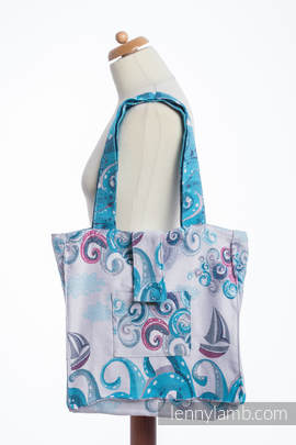 Shoulder bag made of wrap fabric (100% cotton) - HIGH TIDE - standard size 37cmx37cm
