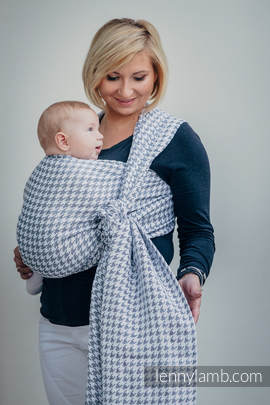 Baby Wrap, Jacquard Weave (60% cotton, 40% linen) - LITTLE PEPITKA - size XS