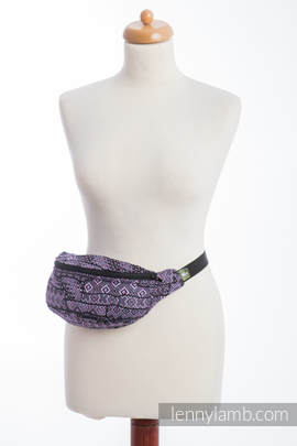 Waist Bag made of woven fabric, (100% cotton) - ENIGMA PURPLE