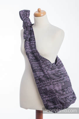 Hobo Bag made of woven fabric - ENIGMA PURPLE