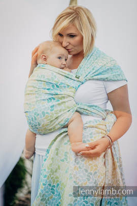 Baby Wrap, Jacquard Weave (100% cotton) - LEMONADE  - size XL