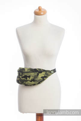 Waist Bag made of woven fabric, (100% cotton) - GREEN CAMO