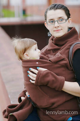 Fleece Babywearing Vest - size XL - Brown