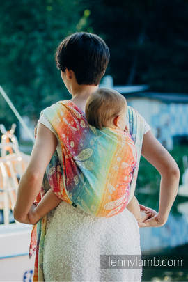 Baby Wrap, Jacquard Weave (100% cotton) - DRAGONFLY RAINBOW - size XS