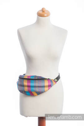 Waist Bag made of woven fabric, (100% cotton) - LITTLE HERRINGBONE CITYLIGHTS