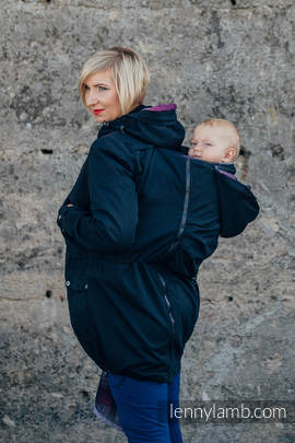 Parka Babywearing Coat - size XL - Black & Customized Finishing