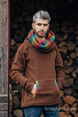 Fleece Sweatshirt - size XXL - brown with Little Herringbone Imagination Dark