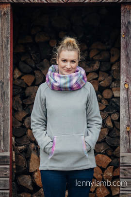 Fleece Sweatshirt - size XXL - grey with Little Herringbone Tamonea