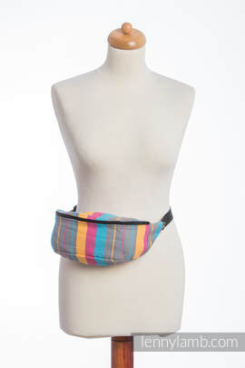 Waist Bag made of woven fabric, (100% cotton) - LITTLE HERRINGBONE DAYLIGHTS