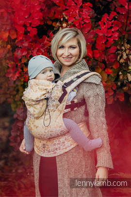 Ergonomic Carrier, Toddler Size, jacquard weave 100% cotton - wrap conversion from COLORS OF FALL - Second Generation