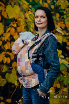Ergonomic Carrier, Toddler Size, crackle weave 100% cotton - wrap conversion from QUARTET  - Second Generation