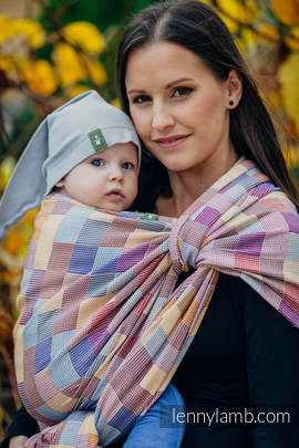Baby Wrap, Crackle Weave (100% cotton) - QUARTET  - size L
