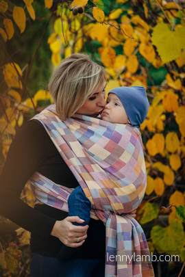 Baby Wrap, Crackle Weave (100% cotton) - QUARTET  - size XL