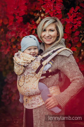 Ergonomic Carrier, Baby Size, jacquard weave 100% cotton - COLORS OF FALL - Second Generation