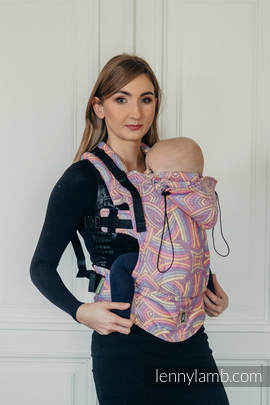 Ergonomic Carrier, Baby Size, jacquard weave 100% cotton - ILLUMINATION LIGHT - Second Generation