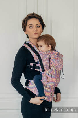 Ergonomic Carrier, Toddler Size, jacquard weave 100% cotton - wrap conversion from ILLUMINATION LIGHT - Second Generation (grade B)