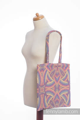 Shopping bag made of wrap fabric (100% cotton) - ILLUMINATION LIGHT
