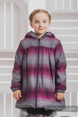 Girls Coat - size 134 - LITTLE HERRINGBONE INSPIRATION with Black