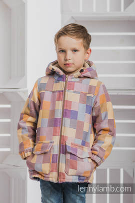 Boys Coat - size 134 - QUARTET with Cafe Latte
