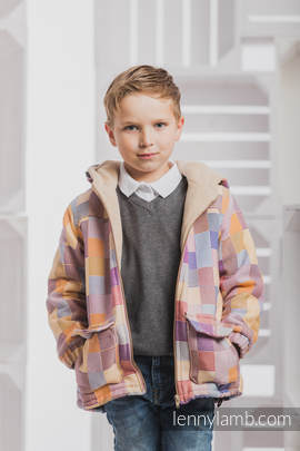 Boys Coat - size 116 - QUARTET with Cafe Latte
