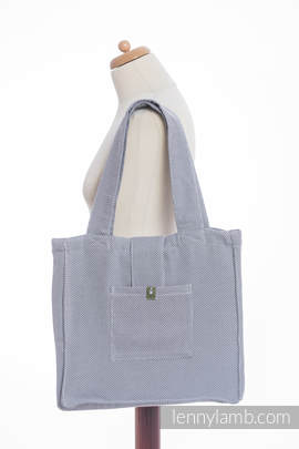 Shoulder bag made of wrap fabric (100% cotton) - LITTLE HERRINGBONE GREY - standard size 37cmx37cm
