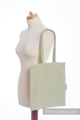 Shopping bag made of wrap fabric (100% cotton) - LITTLE HERRINGBONE OLIVE GREEN